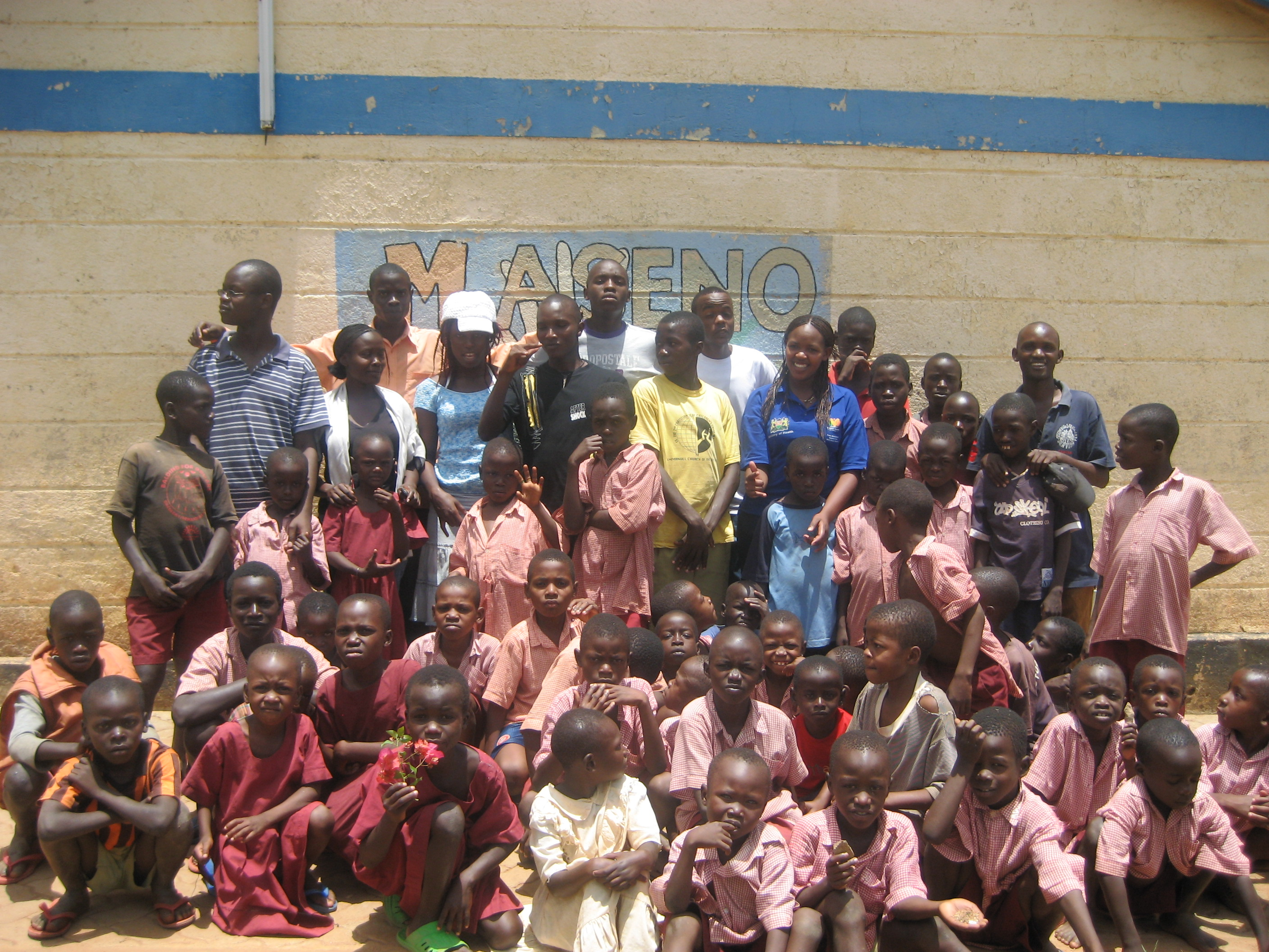 Children and teachers in Maseno