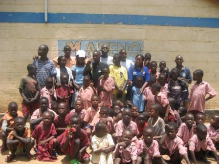 Schüler und Lehrer in Maseno